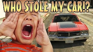 getlinkyoutube.com-STEALING KIDS CAR WHILE INVISIBLE! (GTA 5 Funny Trolling)