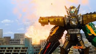 Power Rangers Dino Charge - No Matter How You Slice It - Megazord Fight
