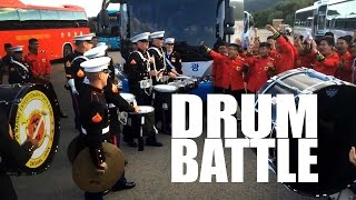 VIDEO: Marine Drum Battle Face-Off!