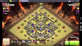 getlinkyoutube.com-Clash of Clans 3 star Stoned GoHo Diamond Tesla Moat 4 Quakes