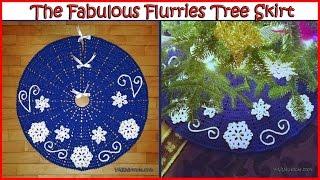 getlinkyoutube.com-How to Crochet The Fabulous Flurries Tree Skirt