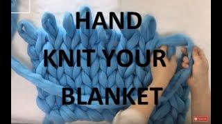 getlinkyoutube.com-How to hand knit a Merino Wool blanket