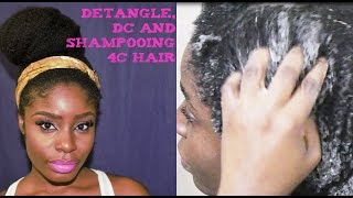 Finger Detangling, Deep Conditioning, and Shampooing 4c Hair
