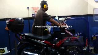 Yamaha LC135 - Dyno Tuning Fail Bike Faulty - Motodynamics Technology Malaysia