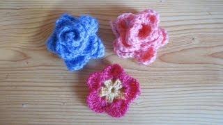getlinkyoutube.com-Rosa celeste de crochet