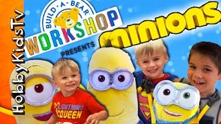 getlinkyoutube.com-Build A Bear Stuffed MINIONS! Batman + Pirate and Karate Mischief at WorkShop HobbyKidsTV
