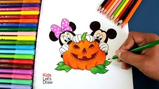 getlinkyoutube.com-Dibujando Minnie Mouse y Mickey Mouse Halloween | Drawing Mickey Mouse and Minnie Mouse Halloween