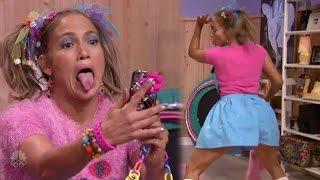getlinkyoutube.com-Jennifer Lopez Twerks on 'Ew!' with Jimmy Fallon
