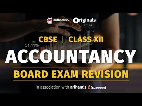 CBSE Exams 2020   Accountancy Revision   Class 12