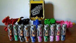 getlinkyoutube.com-Dino Charger Power Packs and Dino Com Review (Power Rangers Dino Charge Toys)