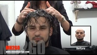 getlinkyoutube.com-Hair Replacement FITTING VIDEO (Kane) – Hair loss, Baldness, Hair Wigs, Hair Toupees, Hair pieces