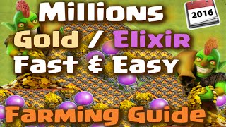 getlinkyoutube.com-Clash of Clans - Farming Strategy for Fast and Easy Gold and Elixir (Episode 1)