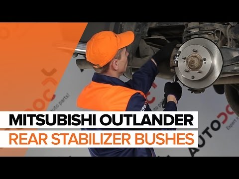 How to replace rear stabilizer bushes on MITSUBISHI OUTLANDER TUTORIAL | AUTODOC
