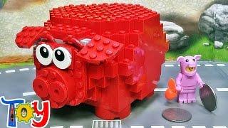 getlinkyoutube.com-레고 빨간 돼지 저금통 40155 저금 장난감 조립 리뷰 Lego Piggy Coin Bank