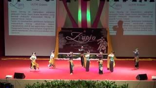 "getlinkyoutube.com-FESTIVAL ZAPIN UiTM 2014 : Tarian Zapin kreatif ""SARONG"" by MaSES UiTM Sabah."