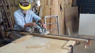 """""""Aplainar"""" madeira com serra circular"""