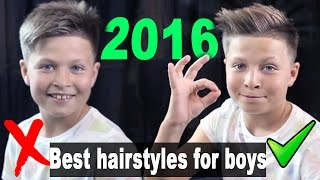 getlinkyoutube.com-Best Hairstyles for Boys 2016 - Quiff Hairstyle - Back to School - UlisesWorld