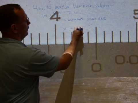 Read a vernier caliper in METRIC, measure saw set