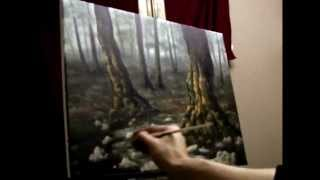 getlinkyoutube.com-How to Paint a Mystical Forest - Acrylic Painting Lesson