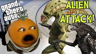 getlinkyoutube.com-Annoying Orange - GTA V: ALIEN ATTACK!