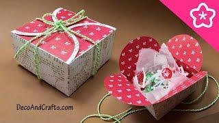 getlinkyoutube.com-Cajita de regalo con cartulina para esta Navidad un sencillo y lindo detalle - DecoAndCrafts