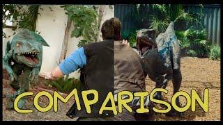 getlinkyoutube.com-Jurassic World Trailer - Homemade Side by Side Comparison