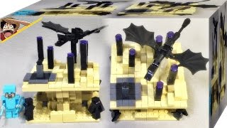 getlinkyoutube.com-bela 마인크래프트 마이크로월드 엔딩 레고 짝퉁 엔더 드래곤 엔더맨 마이크로몹 21107 조립 리뷰 Lego knockoff Minecraft Micro World end