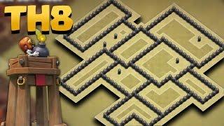 Town Hall 8 Best WAR Base Update *BOMB TOWER*  (TH8 Anti Dragon/Anti Goho/Anti Gowipe) + Replays