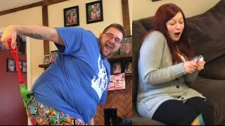 GRIM GETS DIRTY TOY AND HEEL WIFE FREAKS OUT!