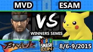 Super Smash Con - ESAM (Pikachu) Vs. MVD (Snake) - Winners Semis - SSBB