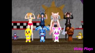 getlinkyoutube.com-[MMD x FNAF] Caramelldansen Toy Version!!