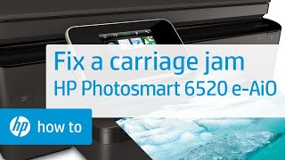 getlinkyoutube.com-Fixing a Carriage Jam - HP Photosmart 6520 e-All-in-One Printer