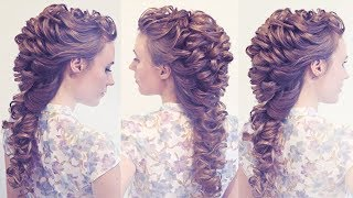 getlinkyoutube.com-Hairstyle for long hair - Свадебная причёска - Мастер-класс - Hairstyles by REM
