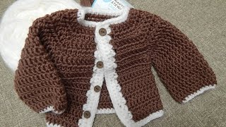 getlinkyoutube.com-Suéter para Niño 0 - 3 meses