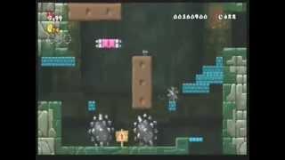 getlinkyoutube.com-HACKハイパーマリオブラザーズWII(改造)1−砦 鉄球に注意!!