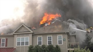 getlinkyoutube.com-3rd ALARM at apartment building fire in Upper Macungie, PA.