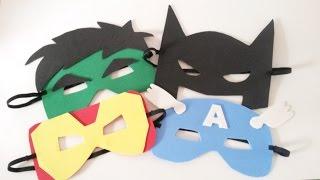 getlinkyoutube.com-Como fazer Máscaras de Super Heróis - Máscaras de EVA
