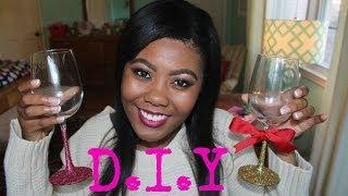 getlinkyoutube.com-DIY Glitter Wine Glasses
