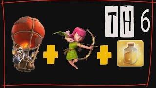 getlinkyoutube.com-Tutorial Attack TH6 Menggunakan Strategi Ballon+Archer [Update 2015]