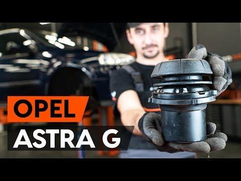 Как заменить опору передней стойки амортизатора OPEL ASTRA G CC (F48, F08) (ВИДЕОУРОК AUTODOC)