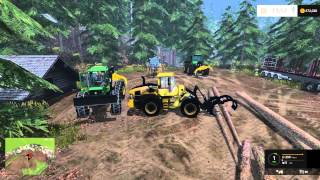getlinkyoutube.com-Farming Simulator 15 - Rockwood Logging - EP:9