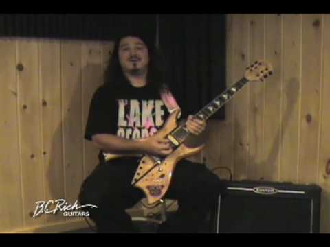 Robert Egnacheski - Billy Riker of Three with his B.C. Rich Guitars