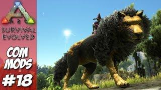 getlinkyoutube.com-ARK Survival Evolved MODs #18 - Direwolf Badass 2.000+  o.O  Jogo MEGA HARD !!