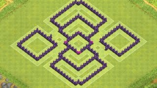 getlinkyoutube.com-Clash of Clans - TH7 Hybrid Base Anti Dragons