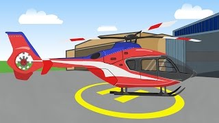 getlinkyoutube.com-Helicopter | Airplane | Pickup Truck | Hot Rod | Garbi Car -  Helikopter Dla Dzieci
