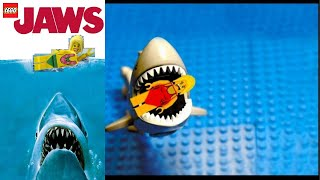 getlinkyoutube.com-LEGO JAWS Shark Attack - FUNNY!