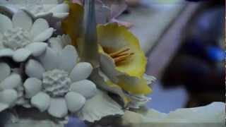 getlinkyoutube.com-Ceramic flowers style Capodimonte