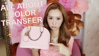 getlinkyoutube.com-LOUIS VUITTON ALMA BB ROSE BALLERINE WEAR & TEAR - ALL ABOUT COLOR TRANSFER & HOW TO REMOVE IT!