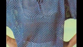 getlinkyoutube.com-Patrón Para tejer Blusa Puntada red  a 2 Agujas