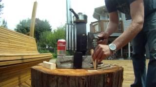 getlinkyoutube.com-Mini Rocket Stove Heater with Camping Cookstove